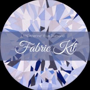 Catherine Blue Diamond Fabric Kit photo
