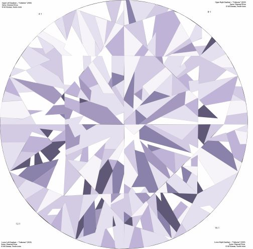 Catherine Gemstone Quilts in lavender