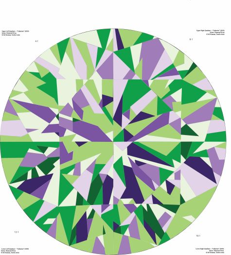 Catherine Gemstone Quilts Green-Purple Colorway Quilt Pattern