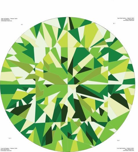 Catherine Gemstone Quilts Peridot Quilt Pattern Colorway