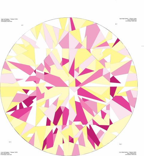 Catherine Quilt Pattern in Pink-Yellow