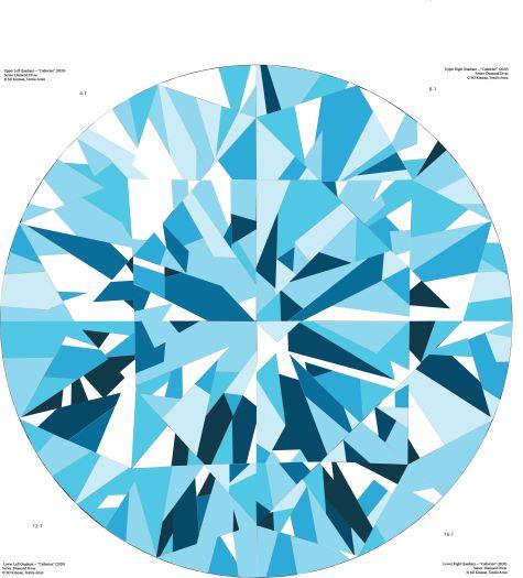 Catherine Quilt Patterns in Aquamarine Colorways