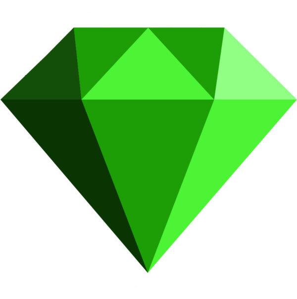 Simple Diamond Side View Emerald jpg