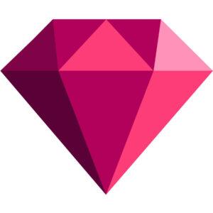 Simple Diamond Side View Ruby jpg