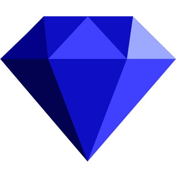 Simple Diamond Side View Sapphire jpg