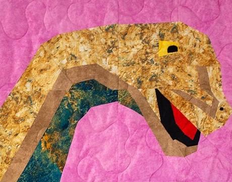 Mighty Magnus Sampler Quilt Brontosaurus