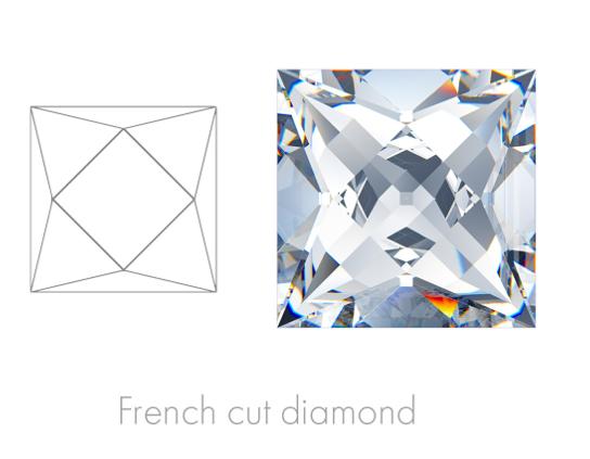 French Cut Gem Images