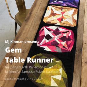Gem Tablerunner Front Cover